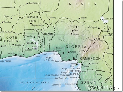 Cameroon_NW Africa from WonderMaps