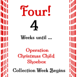 4 Weeks Til Shoebox Time! @SuzBroadhurst