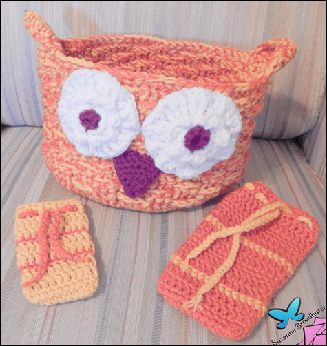 Hoot Owl Soap Saver, Basket, and Pencil Case