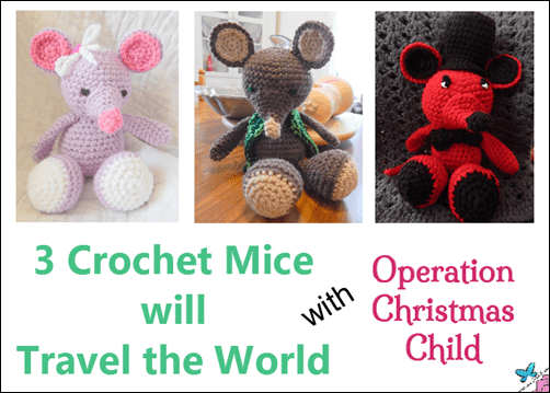 Travels of Three Crocheted Mice