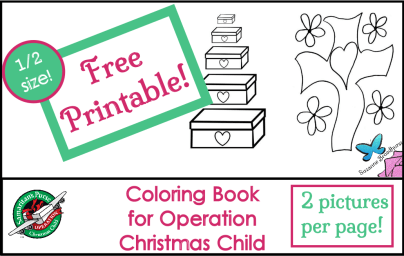 Free Coloring Book - Half-size