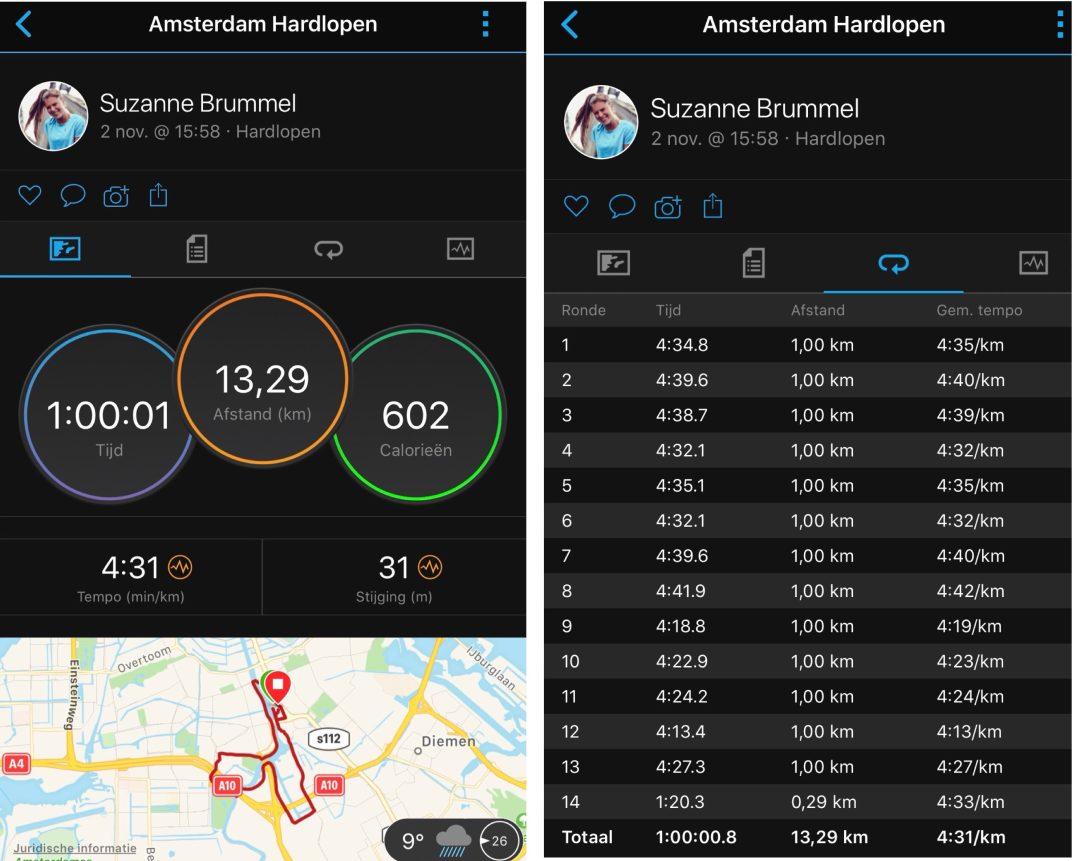 13 km run