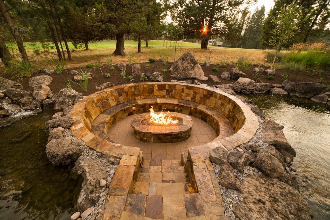 Broken Top Sunken Fire Pit Suzanne Day Audette Landscape