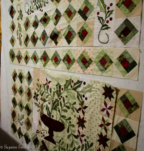 holly and mistetoe quilt