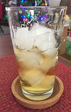 refreshing drink with beer and citrus vodka