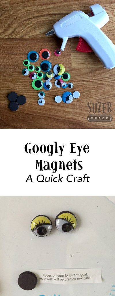 A glue gun, googly eyes and magnets make a quick and happy craft