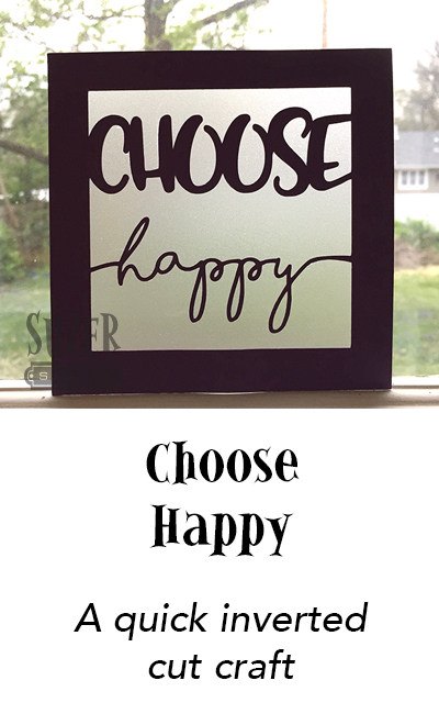 "Translucent paper and an inspiration phrase chase the gray skies away in this ""Choose Happy"" paper sign craft 