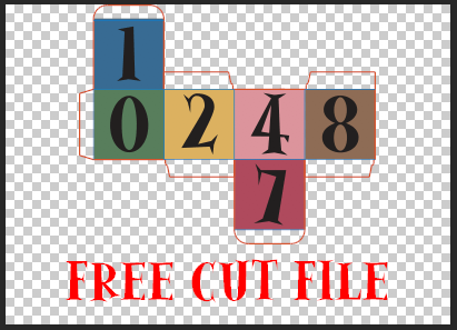 Free cut files for a paper box perpetual calendar