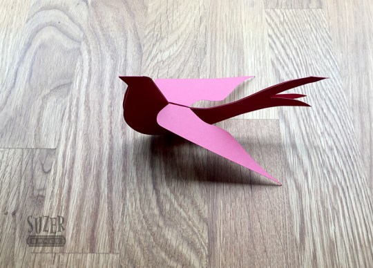 paper swallow folded and finished