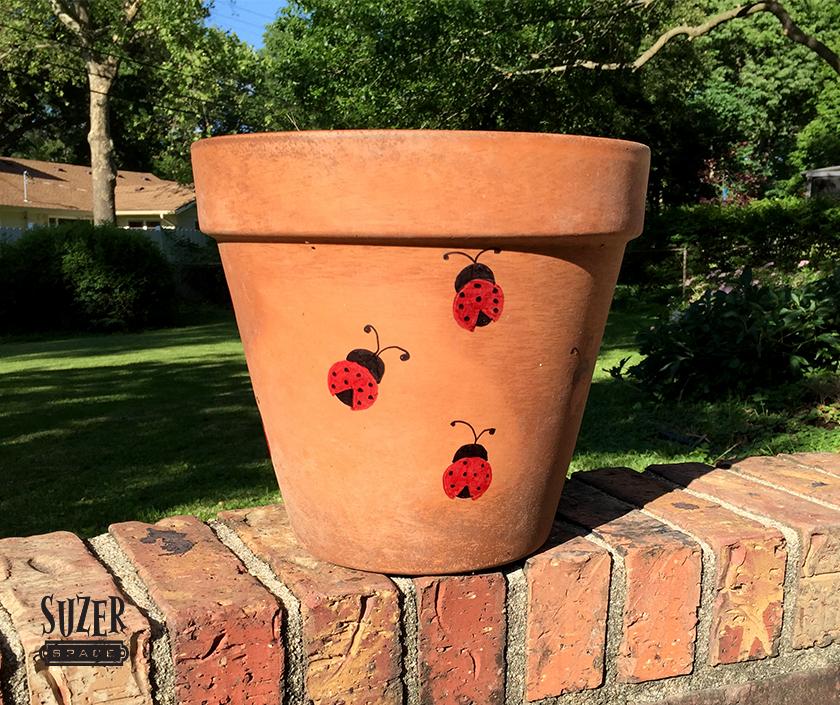 Hand Painted Ladybug Planter