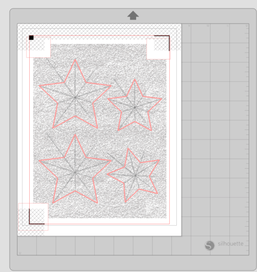 print and cut file for a glitter star wreath
