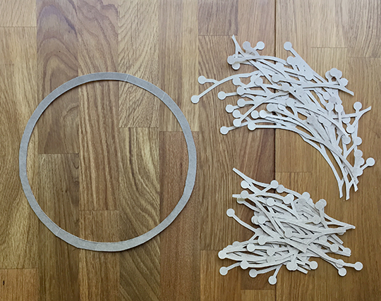 Weeded parts for a patriotic wreath
