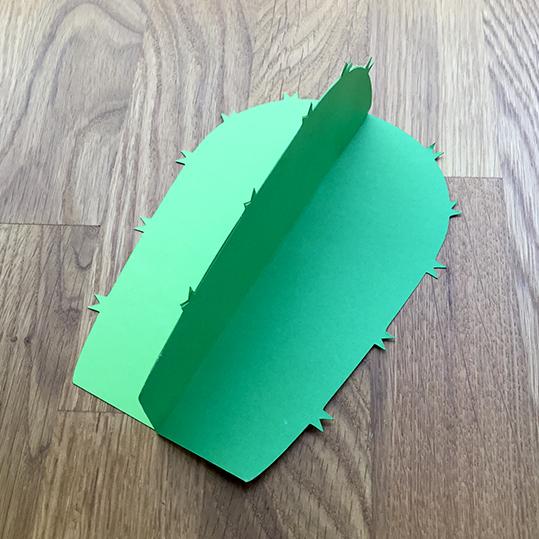 assemble the paper cactus