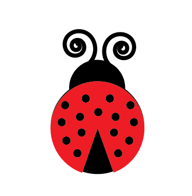 a ladybug for the oversize daisy door decoration