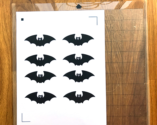 bats on mat to cut for batty chandelier
