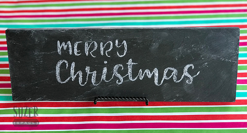 Easy Chalkboard Lettering! Use a custom cut stencil to transfer just about any message to a chalkboard - an easy way to get the hand-lettered look | suzerspace.com