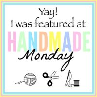 I was featured at Handmade Monday!