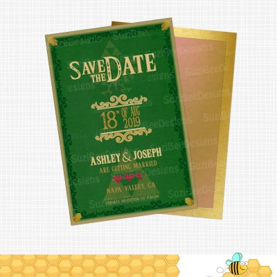 Legend of zelda themed save the date legend of zelda themed shower invitation stopboris Gallery