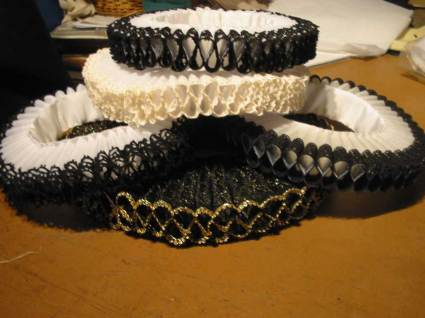 Pile of ruffs for Angels