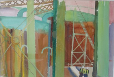 Gas Holder with 2 Figures