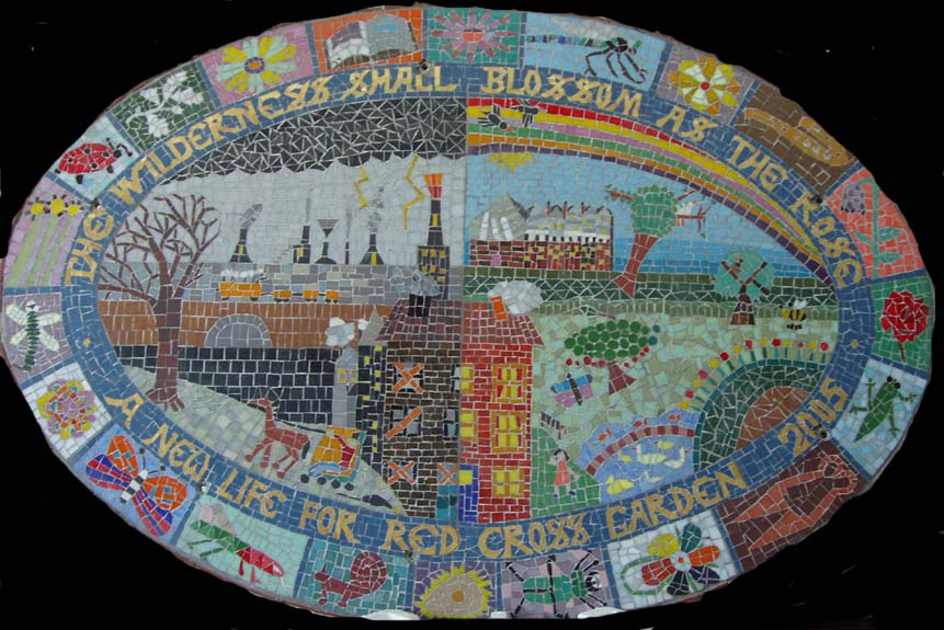 Red Cross Garden mosaic