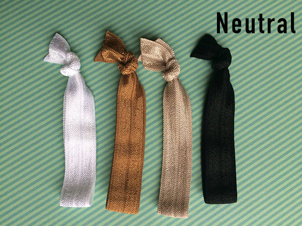 These FOE Hair Ties are functional, pretty, & don't pull and tug on your hair like traditional hair ties. FOE is soft & comfortable to wear.