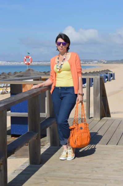 Orange and yellow Converse: matching my