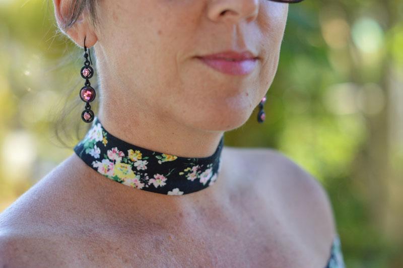 floral choker top