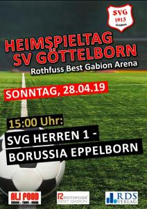 Heimspieltag 28. April - Fußballverein im Saarland