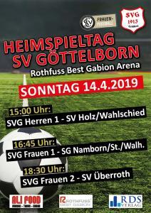 Heimspieltag 14. April - Fußballverein im Saarland