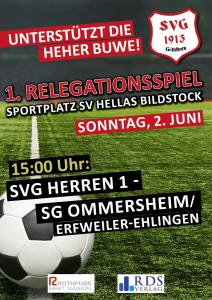 1. Relegationsspiel - Fußballverein im Saarland