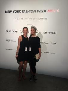 Cris and I working at NYFW: men's!