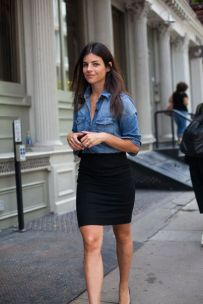 Can also be worn at the office with a cute black pencil skirt!