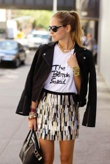 graphic tee fashion stylish chiara ferragni blonde salad