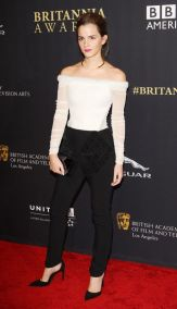 Crop Top Fashion Style Icon Emma Watson Le Smoking Pants Tailored Suit