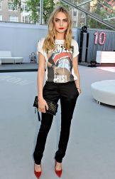 graphic tee fashion stylish cara delevigne