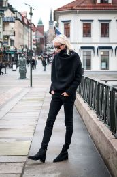 how to wear all black like a true stylish european
