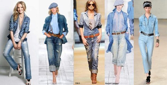 Some denim chambray inspiration from the runway