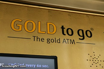 On 57th Street, between 6th and 7th Avenue, across from the Parker Meridien Hotel, is this Gold ATM.