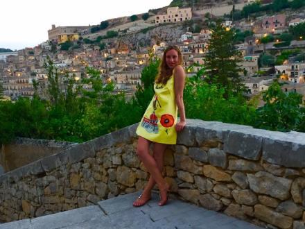 Modica Is Love: Dolce & Gabbana Yellow Dress Italia Is Love Modica Sicily Photography