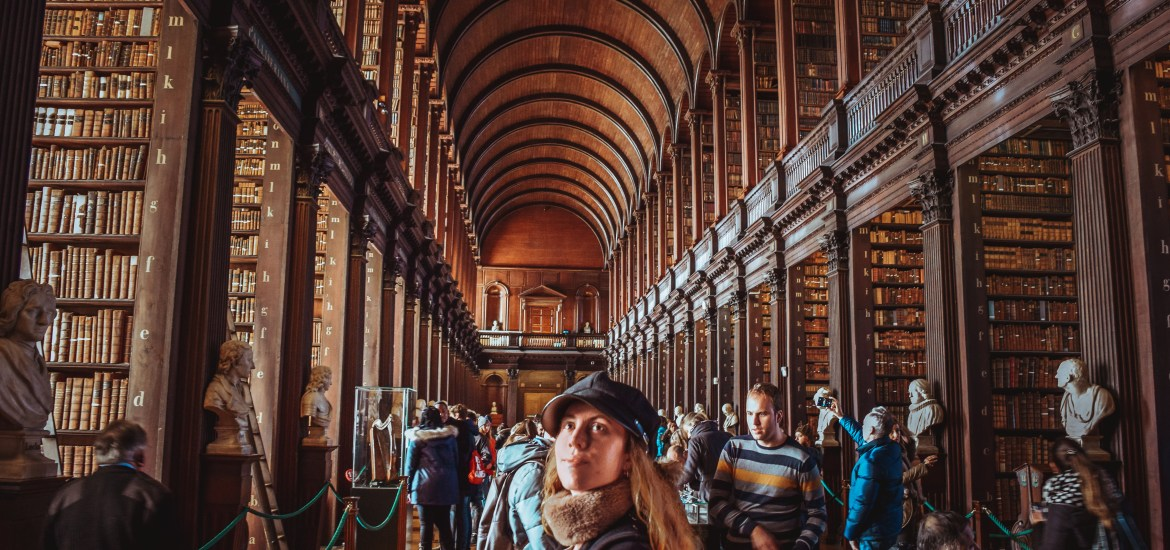 Checking Out The Long Room At Trinity College Library
