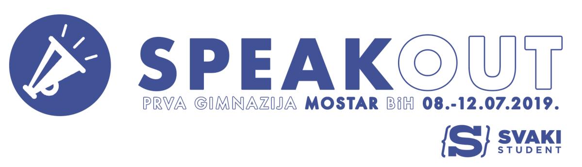 """Svaki student Mostar organizira petodnevni  engleski kamp """"SpeakOUT"""" za tinejdžere u Mostaru od 8. do 12.7.2019."""