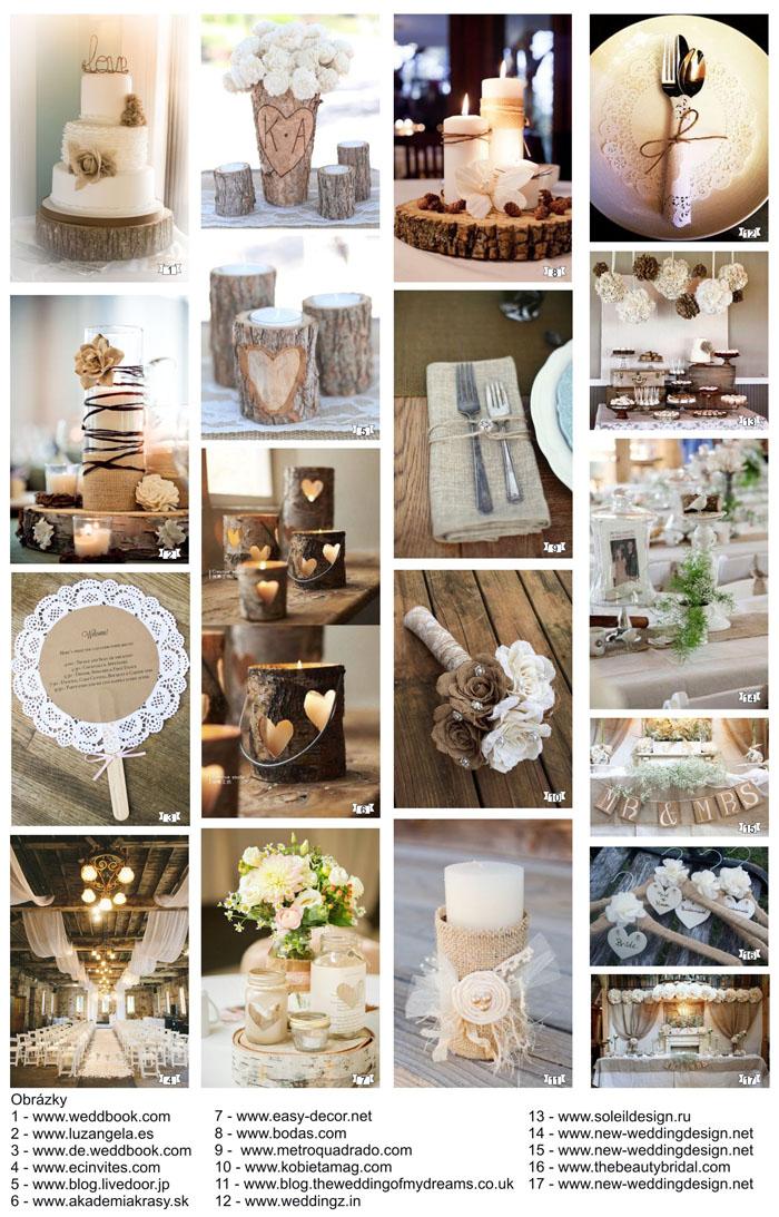 Rustik svatební dekorace