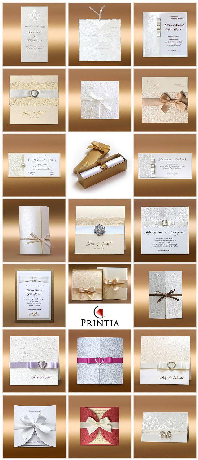 luxusní svatební oznamení inspirace