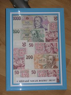 Svatební dar peníze v obrazu