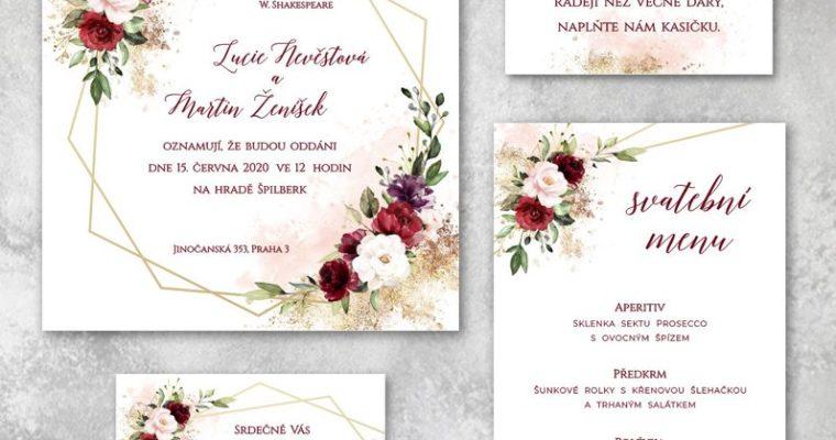 Květinová svatební oznámení jsou trendem svateb vpřírodě!