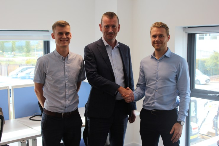 (from left to right)- Alex Tibbitt (Penman Consulting) , Richard Lyall (Project Director at Grove Business Park) and Alex Leadbeater (Penman Consulting)