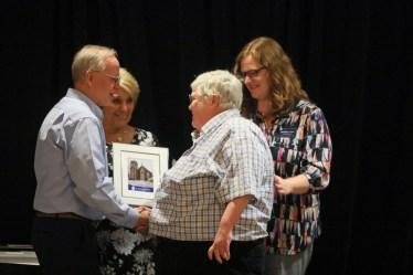 Ed Wnorowski, Donna Young, Pay It Forward Award winner Janet Bowman and Jennifer Clark. Photo by Frankie Steele