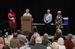Renee Murphy, Volunteer of the Year Award winner Ken Kirn, Ed Wnorowski and Donna Young. Photo by Frankie Steele