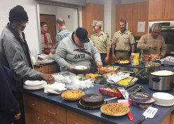 Simon Hall, SRO, and CH1 Men Holiday Party sponsored by Scout Troop 71.
